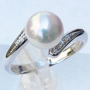 真珠 パール 指輪 あこや本真珠 7mm ホワイトゴールド リング【RCP】