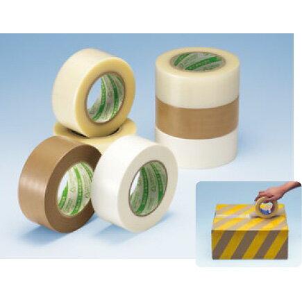 デンカ カラリヤン ニュークロステープ #600 (透明)幅75mm×長さ50m×厚さ0.161mm 3ケース(18巻入×3ケース)(HA)