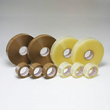 OPPテープ #48L(36巾) 48μ (透明・茶色)幅36mm×長さ1500m×厚さ48μ 5ケース(8巻入×5ケース)(HY)
