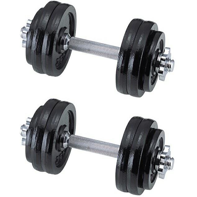 【送料無料】15kgX2個30kgセットダンベルトレーニング