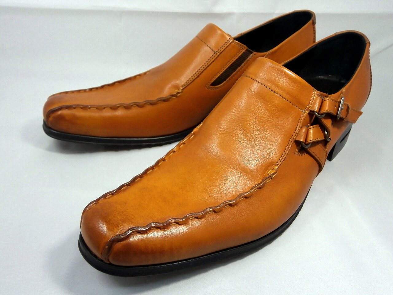 【17年秋の新製品】 キャサリンハムネット キップ革サイドベルトスワールモカ 31554(ブラウン) KATHARINE HAMNETT メンズ 紳士靴【ポイント10倍】