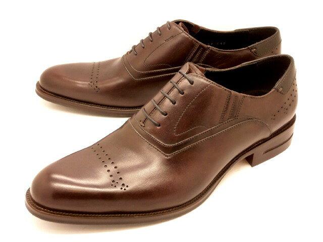 【残り1足!25.5cm】キャサリンハムネット 31522(ダークブラウン)外羽根パンチングストレートチップ 【ポイント10倍】KATHARINE HAMNETT 靴 紳士靴