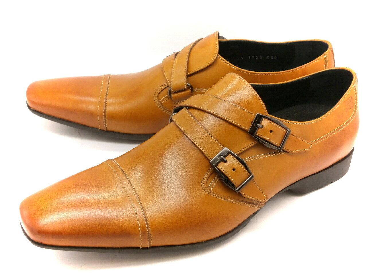 【残り僅か!】KATHARINE HAMNETT 31541(ブラウン)返しベルトモンクストラップ 【ポイント10倍】キャサリンハムネット メンズ ビジネス 靴 紳士靴