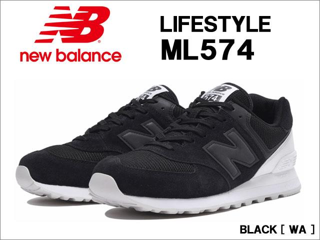 【ポイント10倍】 ニューバランス [ new balance ] ML574 (BLACK/WA)メンズスニーカー【国内正規品】 ●25.0cm~30.0cm 【10P03Dec16】【RCP】
