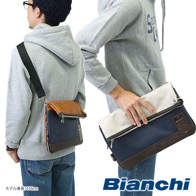 【即納】Bianchi ビアンキ バッグ TBPI-03 PU LEATHER メンズ レディース クチオレショルダー ショルダーバッグ【コンビニ受取対応商品】 shoetime