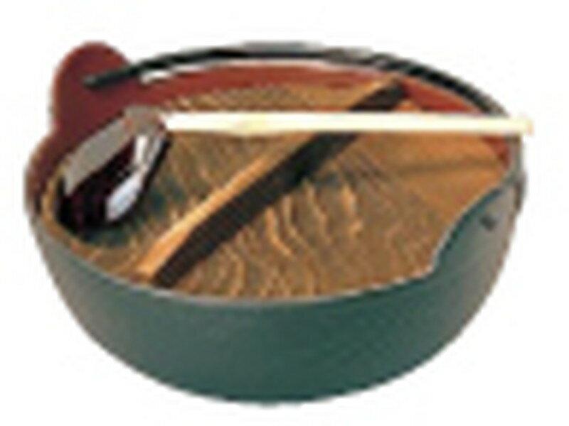 [TKG16-1945] 五進 田舎鍋(鉄製内面茶ホーロー仕上) 27cm(杓子付)