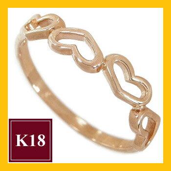 K18ゴールド ハート ピンキーリング 指輪 ハートピンキーリング ハートリング K18ピンクゴールド K18PG