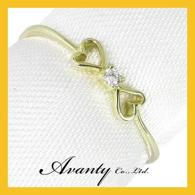 【Avanty】K18イエローゴールド:リボンダイヤリング
