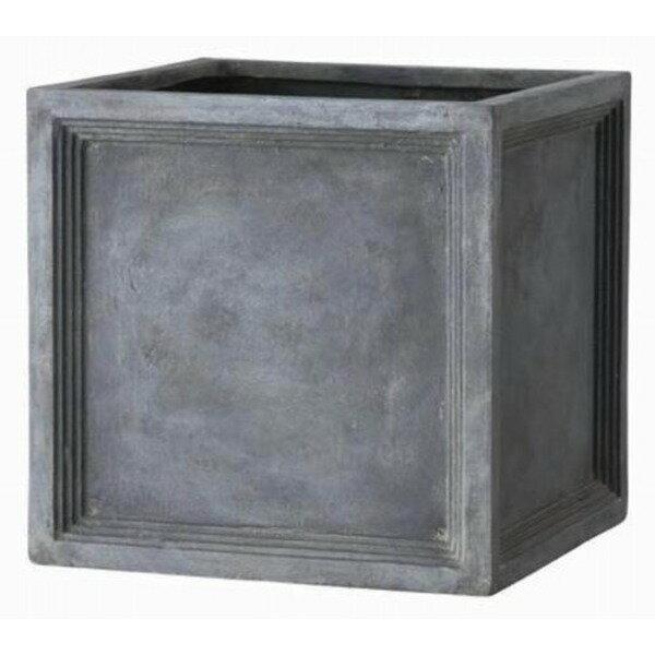 ファイバー製軽量植木鉢 LLブリティッシュ Pキューブ 47cm /植木鉢