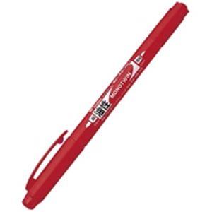 (業務用30セット) トンボ鉛筆 油性ペン/モノツイン 【極細/赤】 10本入り 油性インク OS-TME25 ×30セット