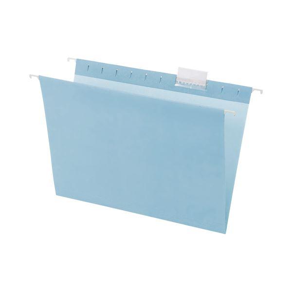 (まとめ) TANOSEE ハンギングフォルダー A4 ブルー 1パック(5冊) 【×10セット】