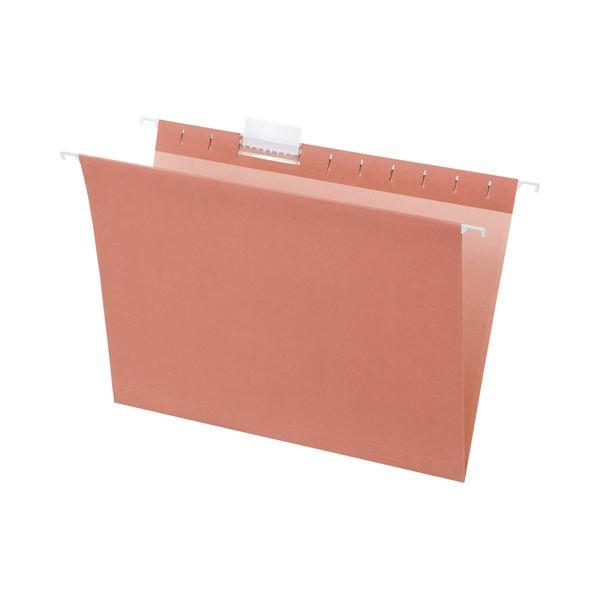 (まとめ) TANOSEE ハンギングフォルダー A4 ピンク 1パック(5冊) 【×10セット】