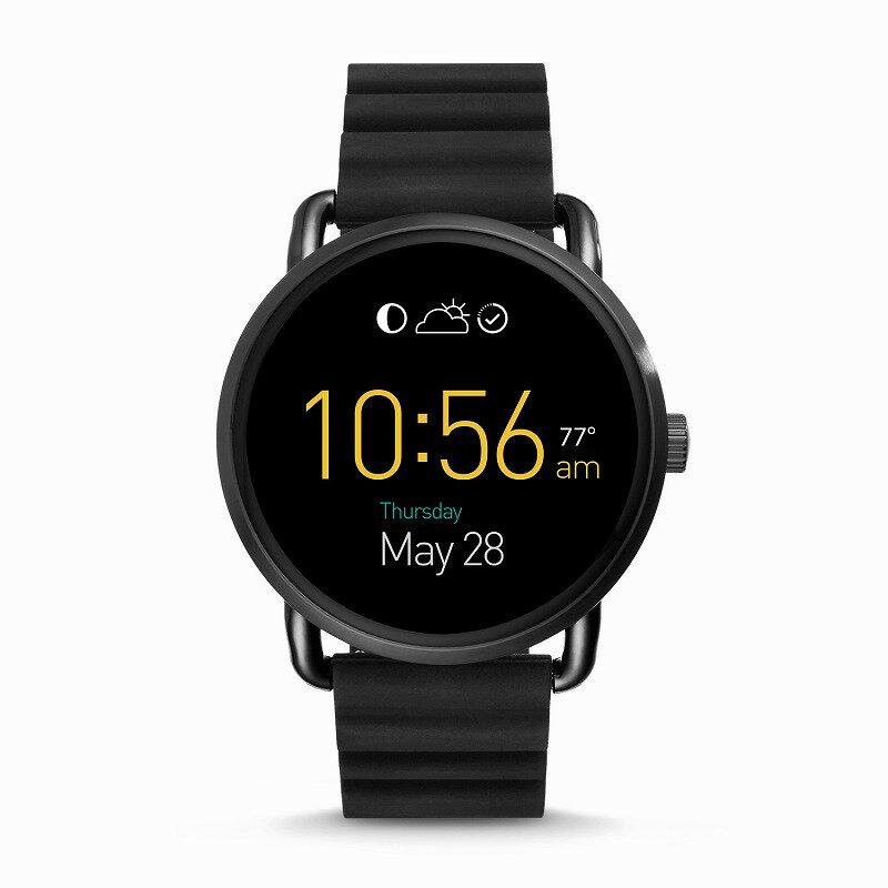 フォッシル スマートウォッチ Fossil FTW2103 Q Gen 2 Smartwatch Wander Black Silicone海外お取り寄せ商品 米国正規商品 送料無料【smtb-tk】