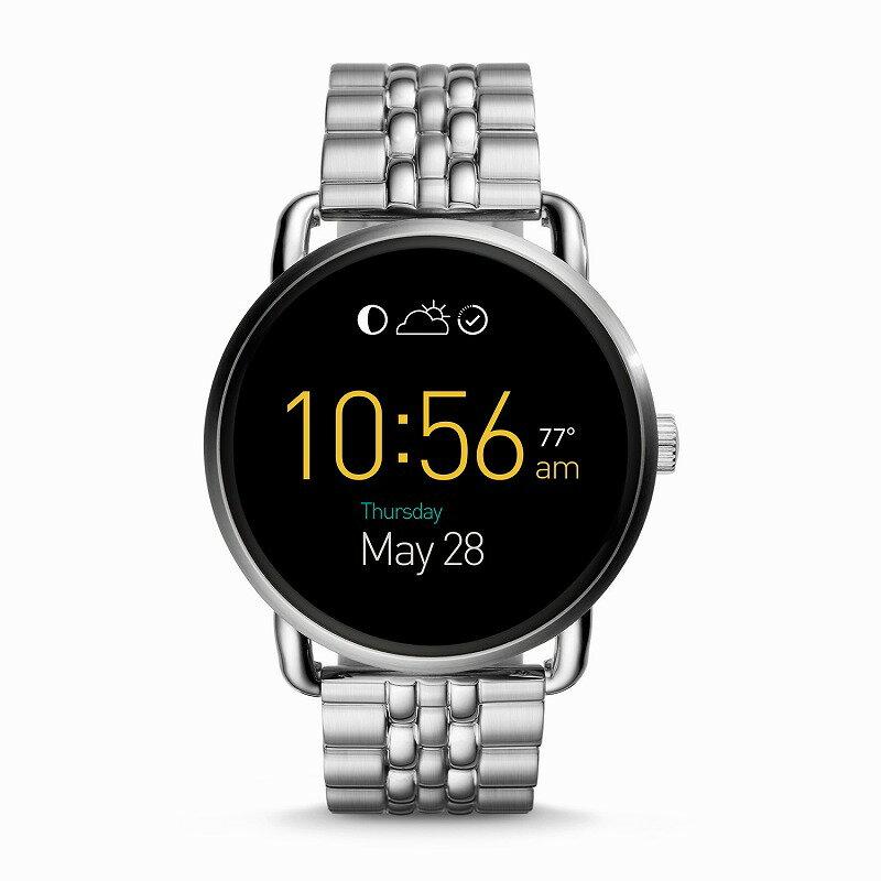 フォッシル スマートウォッチ Fossil FTW2111 Q Gen 2 Smartwatch Wander Stainless Steel海外お取り寄せ商品 米国正規商品 送料無料【smtb-tk】