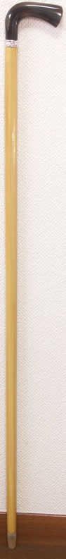 「最高級柘植(つげ)水牛L字型ステッキ 唐草純銀リング 細目」に「御蔵島無垢のつげのお箸」付 【送料無料】「楽天シニア市場」