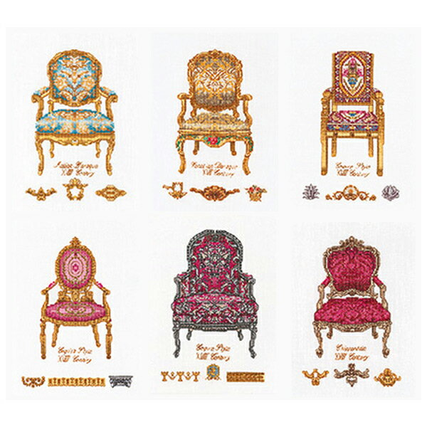 刺繍 刺しゅう輸入キット Thea GOUVERNEUR Six Chairs White Aida 3068 【送料無料】