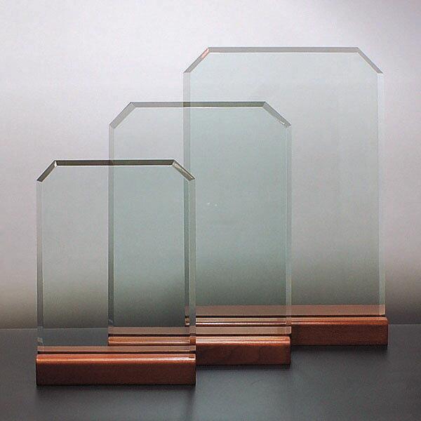 重厚な厚みのガラスプレート『中』180x250mm