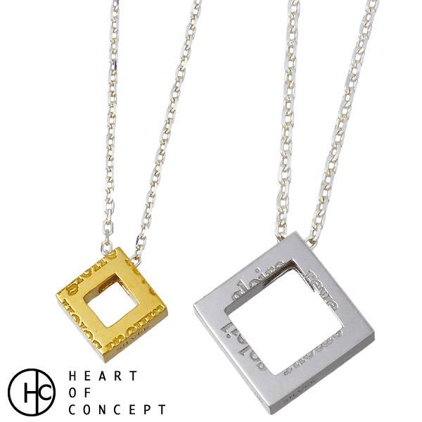 HEART OF CONCEPT【ハートオブコンセプト】 ネックレス ペアー ダイヤモチーフ ポージー シルバー ネックレス HCP-348L-M-P