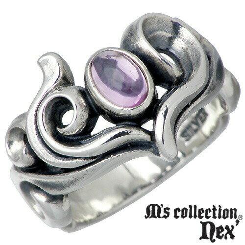M's collection【エムズコレクション】 リング 指輪 レディース シルバー ストーン&ハート 7~13号925 スターリングシルバー MC-757