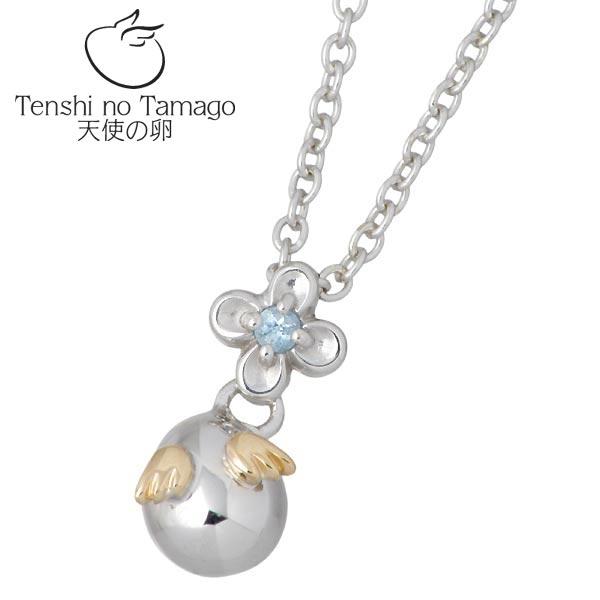 【天使の卵】Tenshi no Tamago ネックレス レディース シルバー ロジウム加工 ブルートパーズ 花 950 ブリタニアシルバー tenshi-1170BTRM