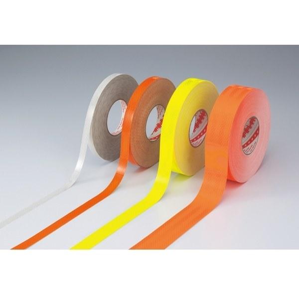 高輝度反射テープ 50mm幅×45m カラー:蛍光オレンジ (390029)