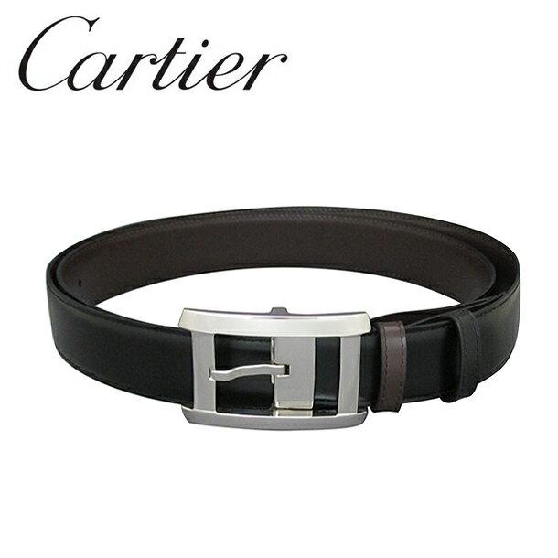 カルティエ ベルト/リバーシブル Cartier ブラック/ブラウン/シルバーバックル タンクXL L5000335 【ラッピング無料】【送料無料】【RCP】