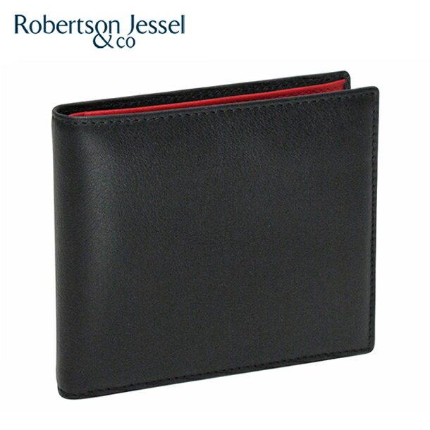 品質を保証 【送料無料】ロバートソン ジェッセル 2つ折り財布小銭入れ付き カーフ ブラック/レッド S11005 Robertson Jessel【RCP】