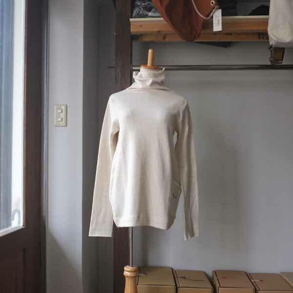 SARAXJIJI サラジジ original recycle cotton high neck PU オリジナルリサイクルコットンハイネックPU 2 colors