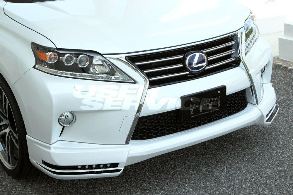 M'z SPEED エムズスピード フロントハーフスポイラー 未塗装 レクサス RX450h/RX350/RX270 後期 RX450h/RX350/RX270 エクスクルーシブ ゼウス ZEUS ラヴライン LUVLINE