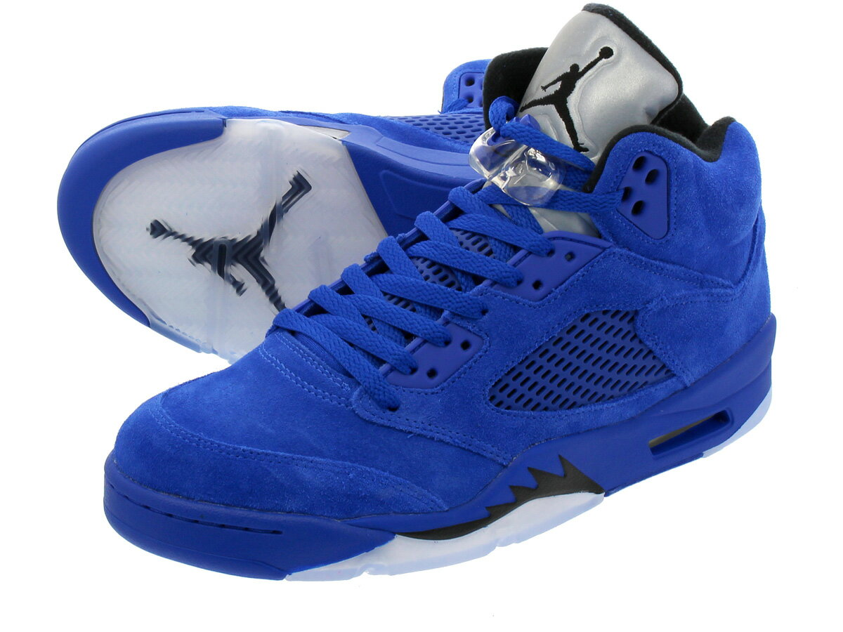 【ビッグ・スモールサイズ】 NIKE AIR JORDAN 5 RETRO 【FLIGHT SUIT】【BLUE SUEDE】 ナイキ エア ジョーダン 5 レトロ GAME ROYAL/BLACK/GAME ROYAL