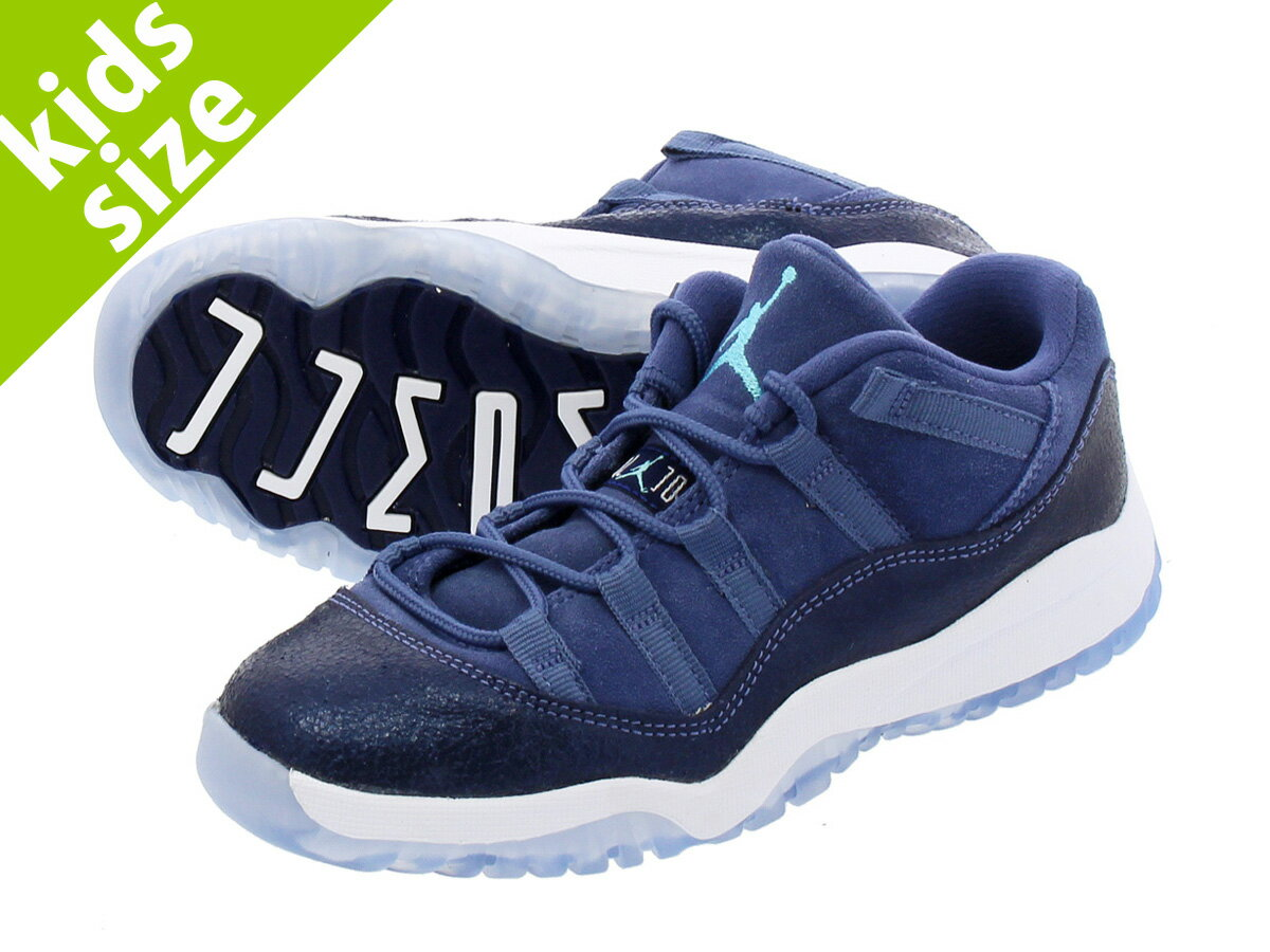 【キッズ サイズ】【16cm-22cm】 NIKE AIR JORDAN 11 RETRO LOW BP 【BLUE MOON】  ナイキ エア ジョーダン 11 レトロ ロー BP BLUE MOON/MIDNIGHT NAVY/WHITE