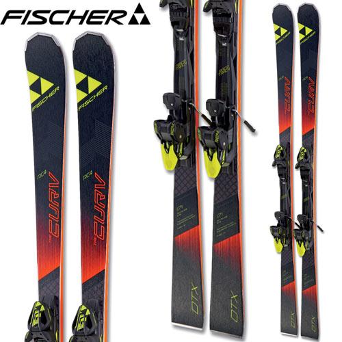 フィッシャー FISCHER 17-18 スキー SKI 2018 RC4 THE CURV DTX カーブDTX + RC4 Z 12 Powerrail (金具付き) デモ 基礎 (-):