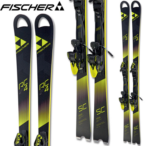 フィッシャー FISCHER 17-18 スキー SKI 2018 RC4 WC SC YELLOW BASE + RC4 Z12 Powerrail (金具付き) デモ 基礎 (-):
