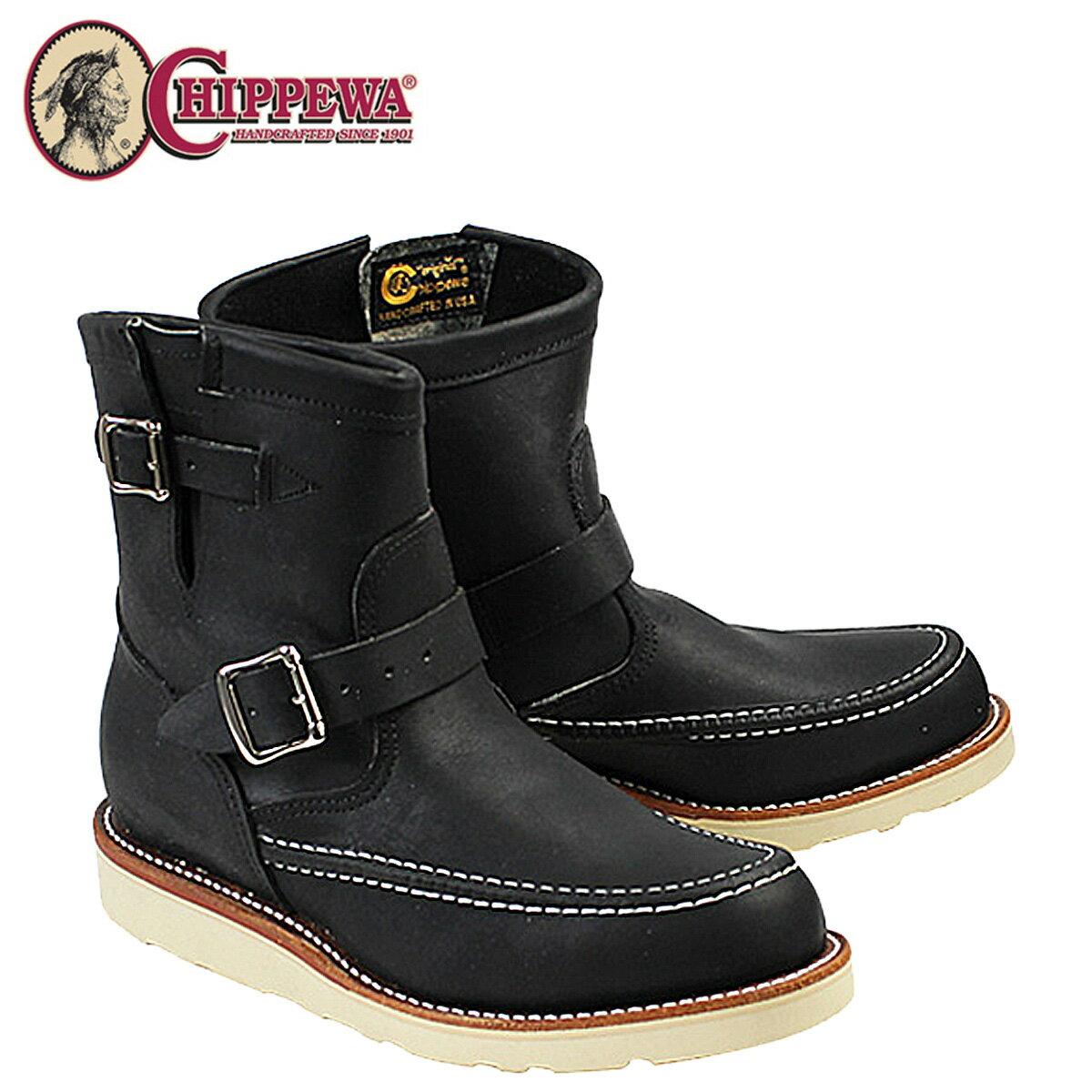 チペワ CHIPPEWA ブーツ 7インチ ハイランダー エンジニア 7INCH HIGHLANDER 1901M07 Eワイズ ブラック メンズ [12/15 追加入荷]