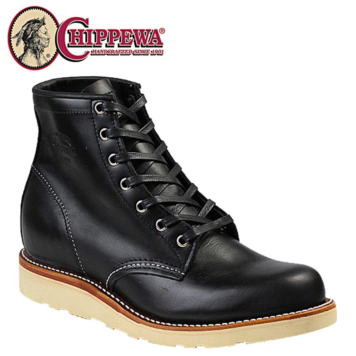 チペワ ブーツ 6インチ プレーン トゥ ウェッジ CHIPPEWA 6INCH PLAIN TOE WEDGE 1901M15 Dワイズ ブラック メンズ