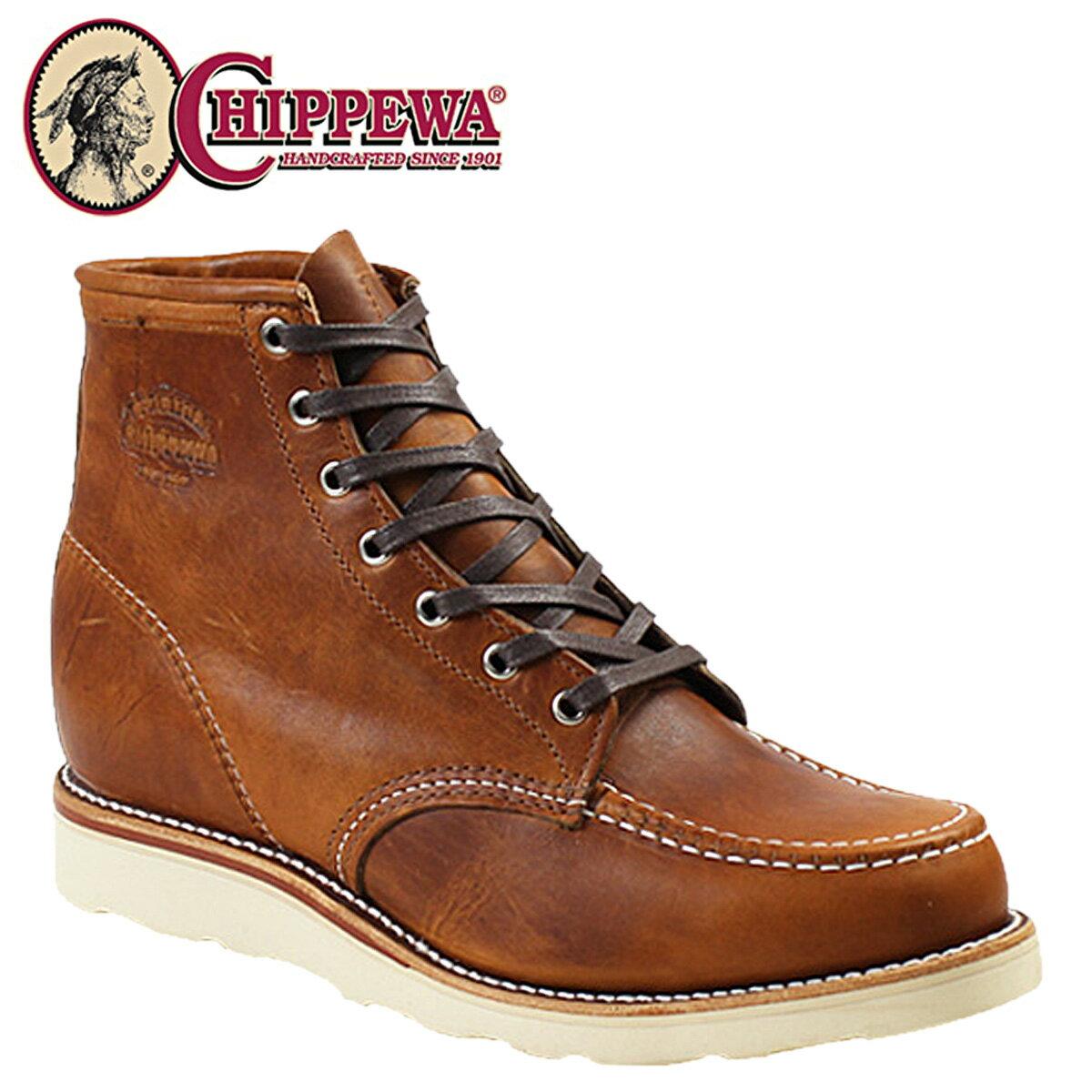 チペワ CHIPPEWA 6インチ モック トゥ ウェッジ ブーツ 6INCH TAN RENEGADE MOC TOE WEDGE Eワイズ レザー 1901M22 タン ブーツ BOOT メンズ [12/15 再入荷]