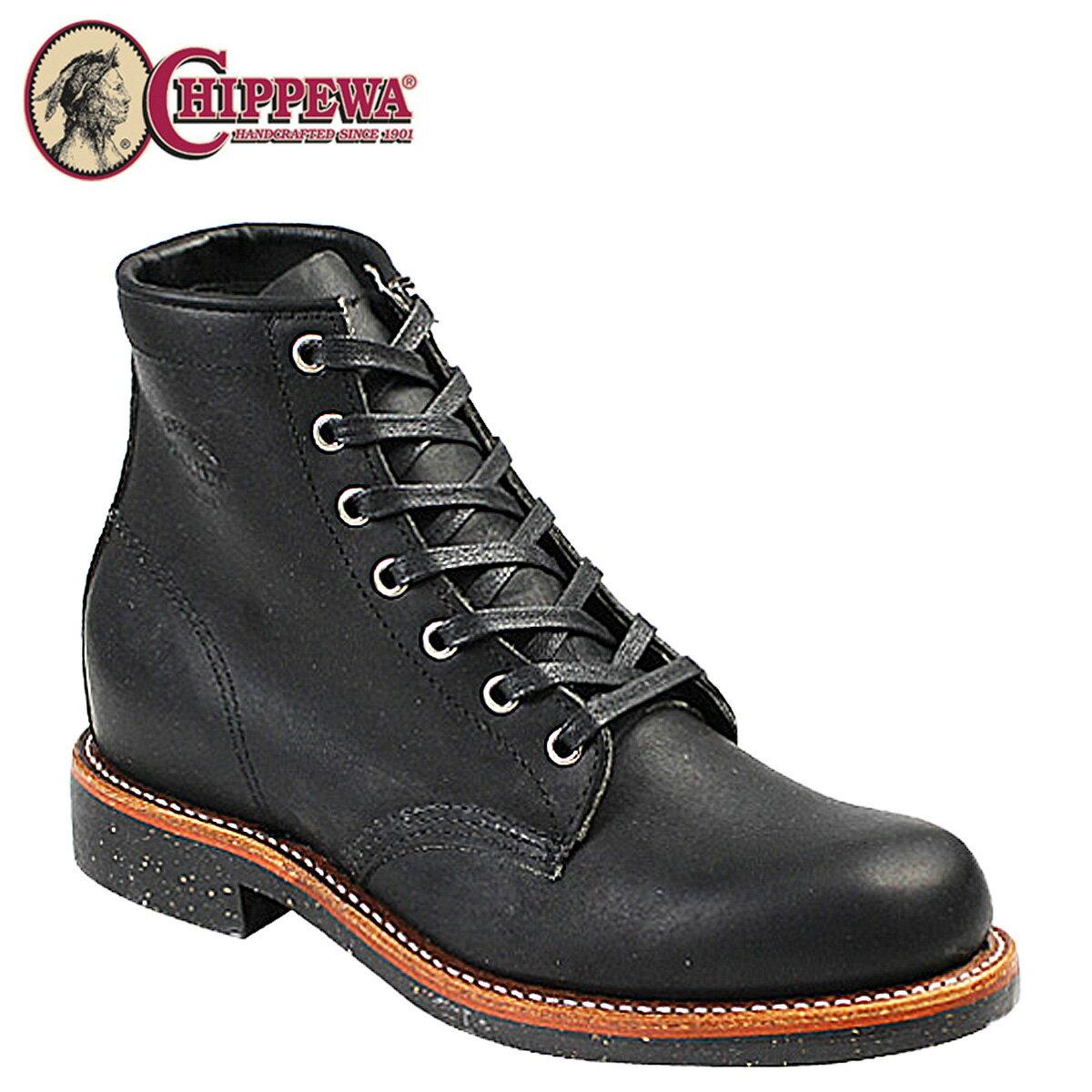 チペワ CHIPPEWA 6INCH SERVICE BOOT ブーツ 6インチ サービス ブーツ 1901M24 Dワイズ ブラック メンズ [12/15 再入荷]