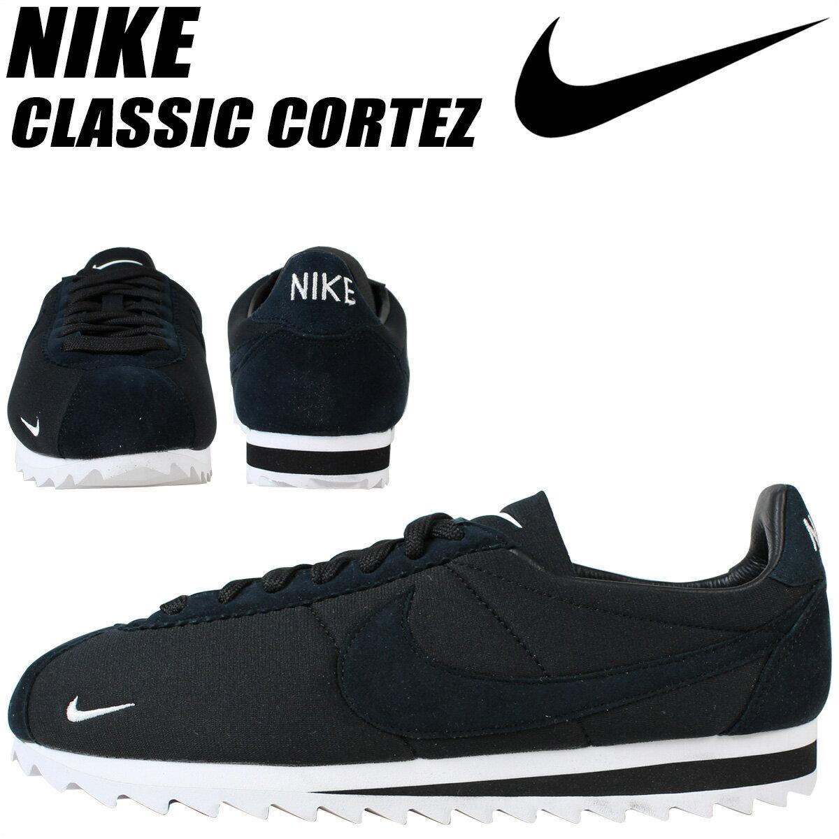 ナイキ NIKE コルテッツ クラシック スニーカー CLASSIC CORTEZ SHARK LOW 810135-010 メンズ 靴 ブラック