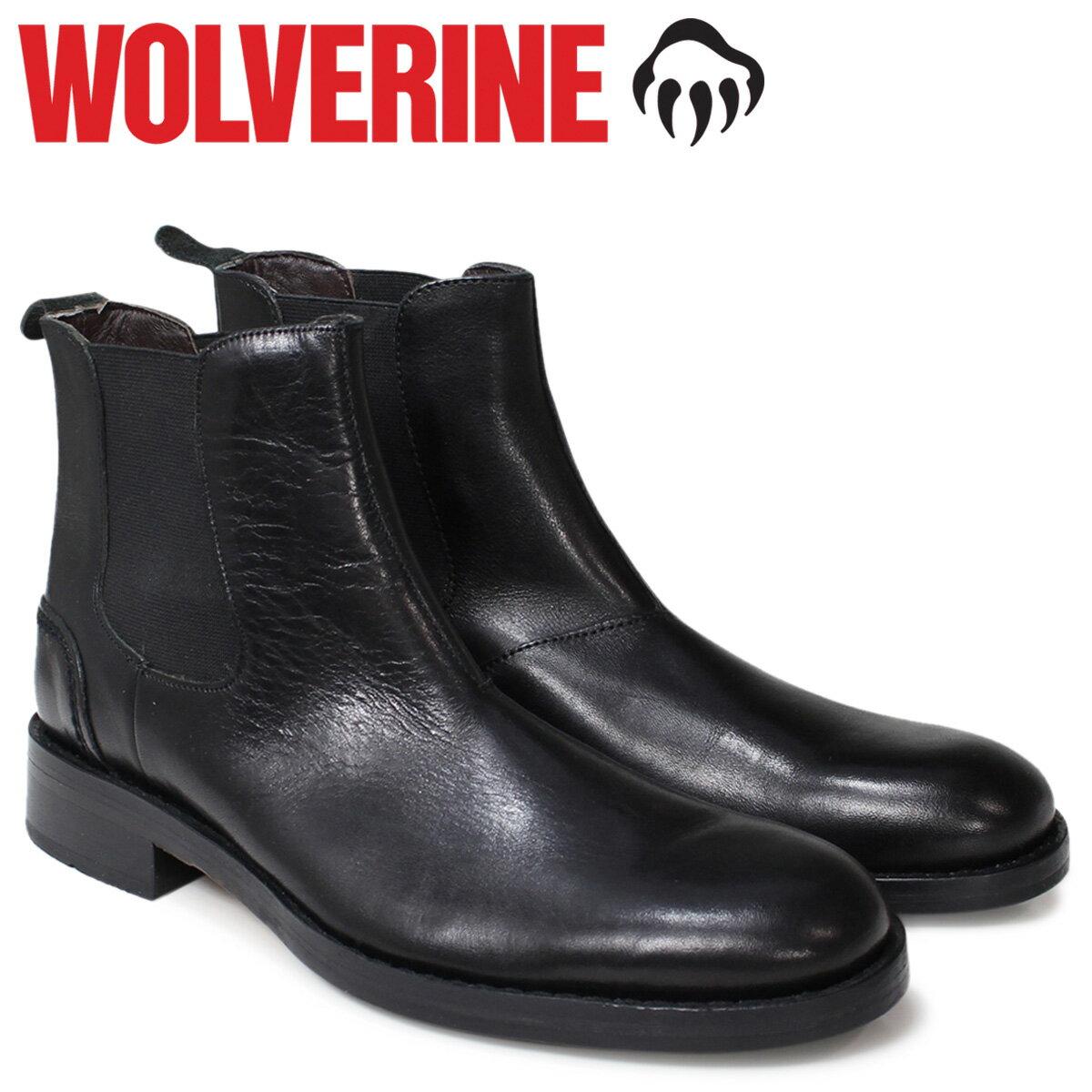 ウルヴァリン 1000マイル ブーツ WOLVERINE ブーツ 1000MILE チェルシーブーツ メンズ MONTAGUE Dワイズ W00502 ブラック