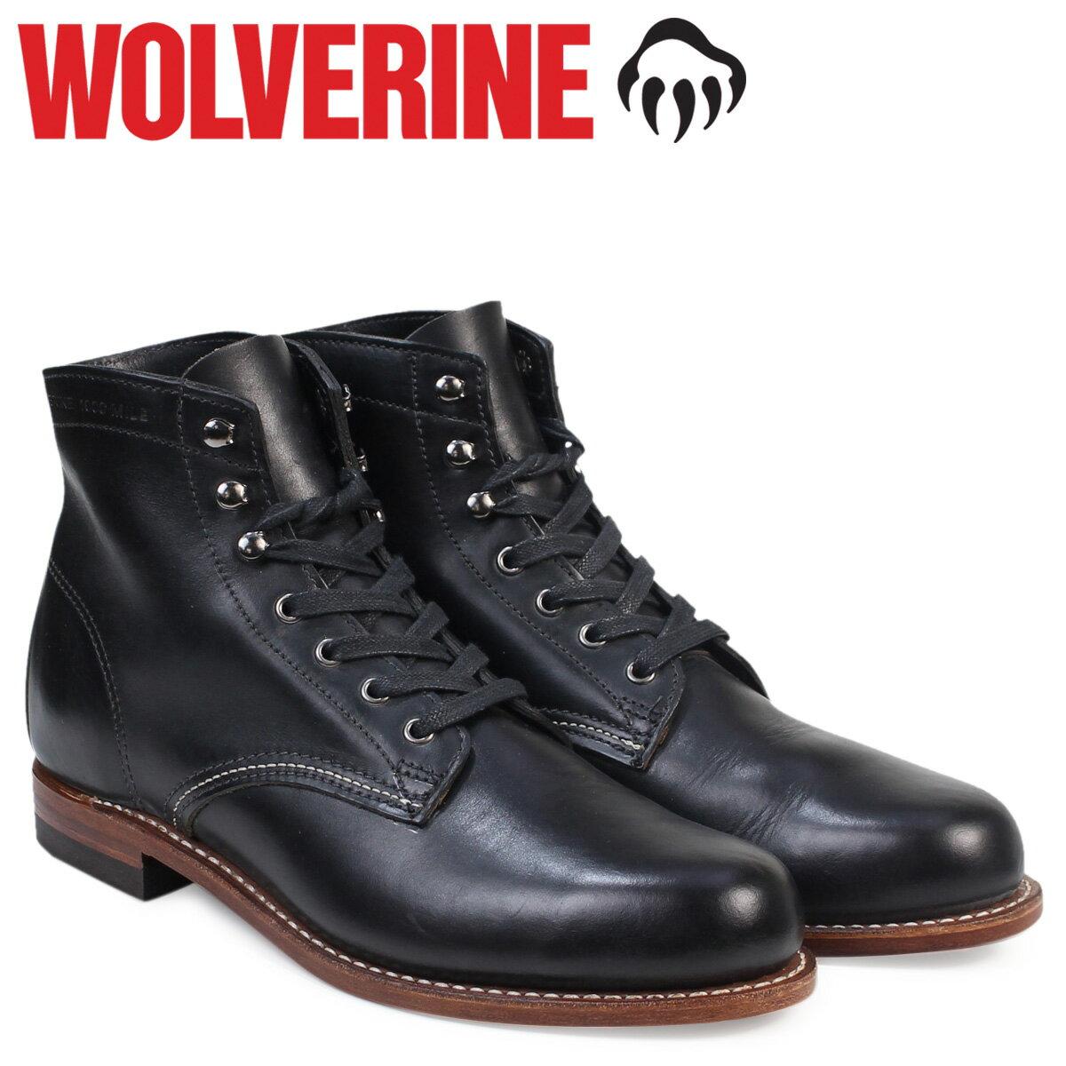 ウルヴァリン 1000マイル ブーツ WOLVERINE ブーツ メンズ 1000 MILE BOOT Dワイズ W05300 ブラック ワークブーツ [9/27 追加入荷]