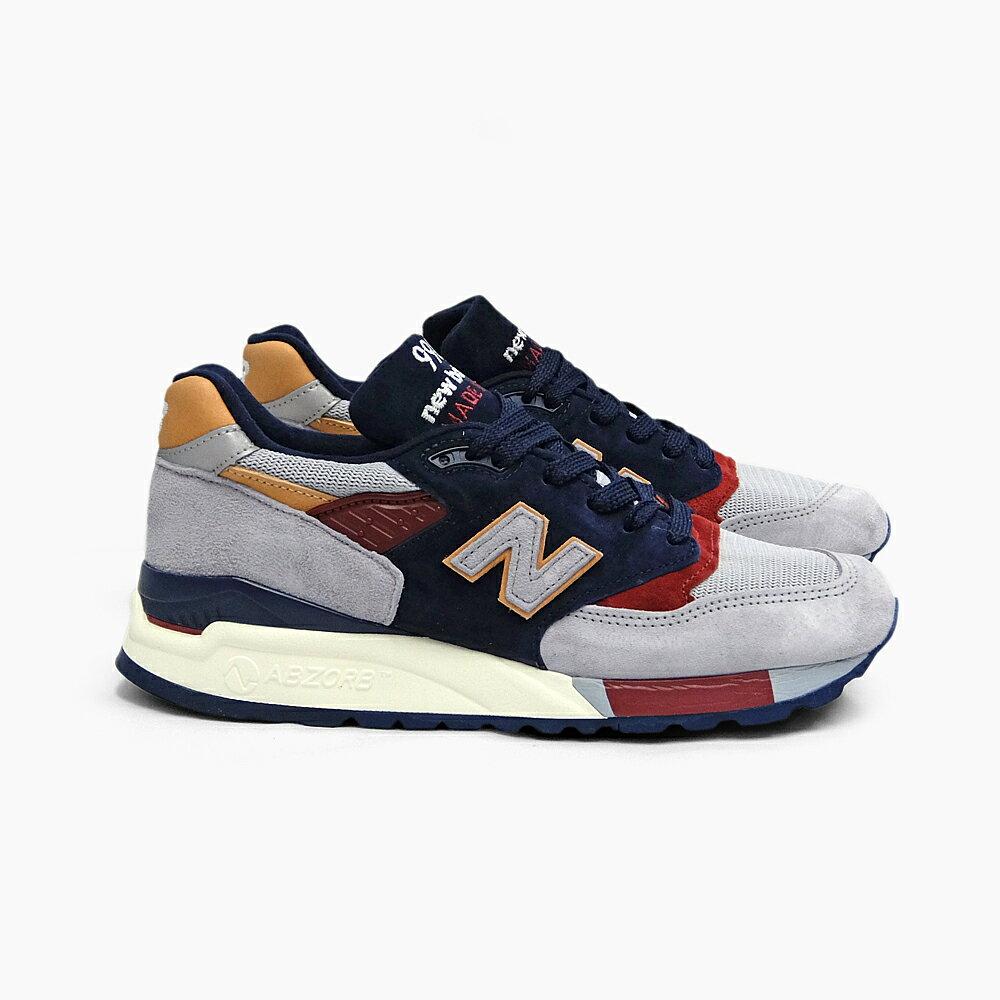 NEW BALANCE ニューバランス メンズ スニーカー M998 MADE IN U.S.A. GREY/NAVY M998CSU CLASSICS 998 グレー ネイビー スエード MEN'S GRAY シューズ ランニングシューズ ニューバランス998 USAモデル NEWBALANCE SNEAKER SHOES 靴 D