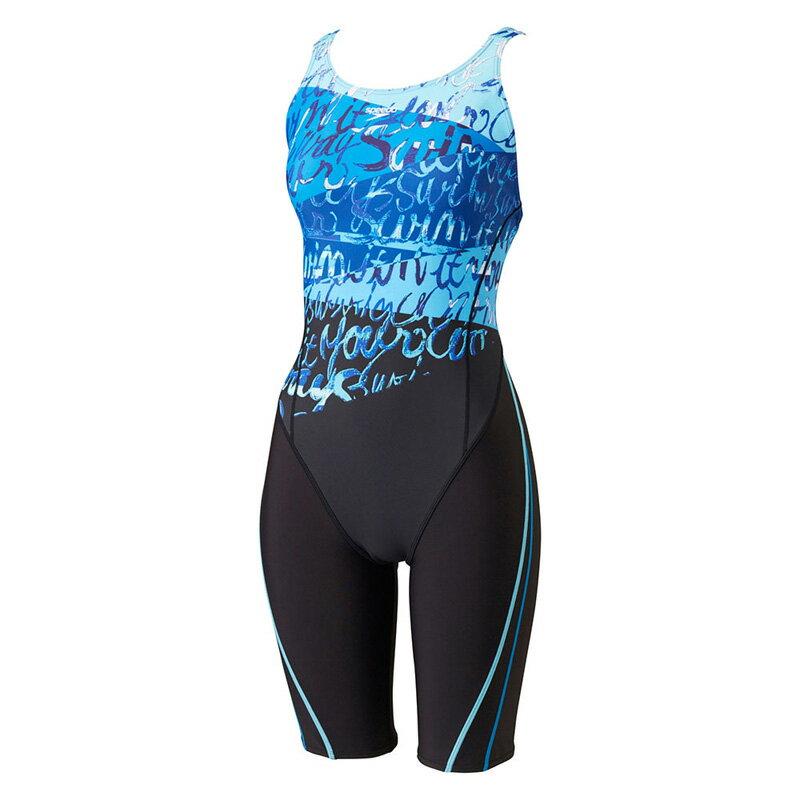 ★普通便で送料無料★【SPEEDO】Lap Swim ウイメンズスパッツスーツ フィットネス水着 sd57n26 BL(ブルー)