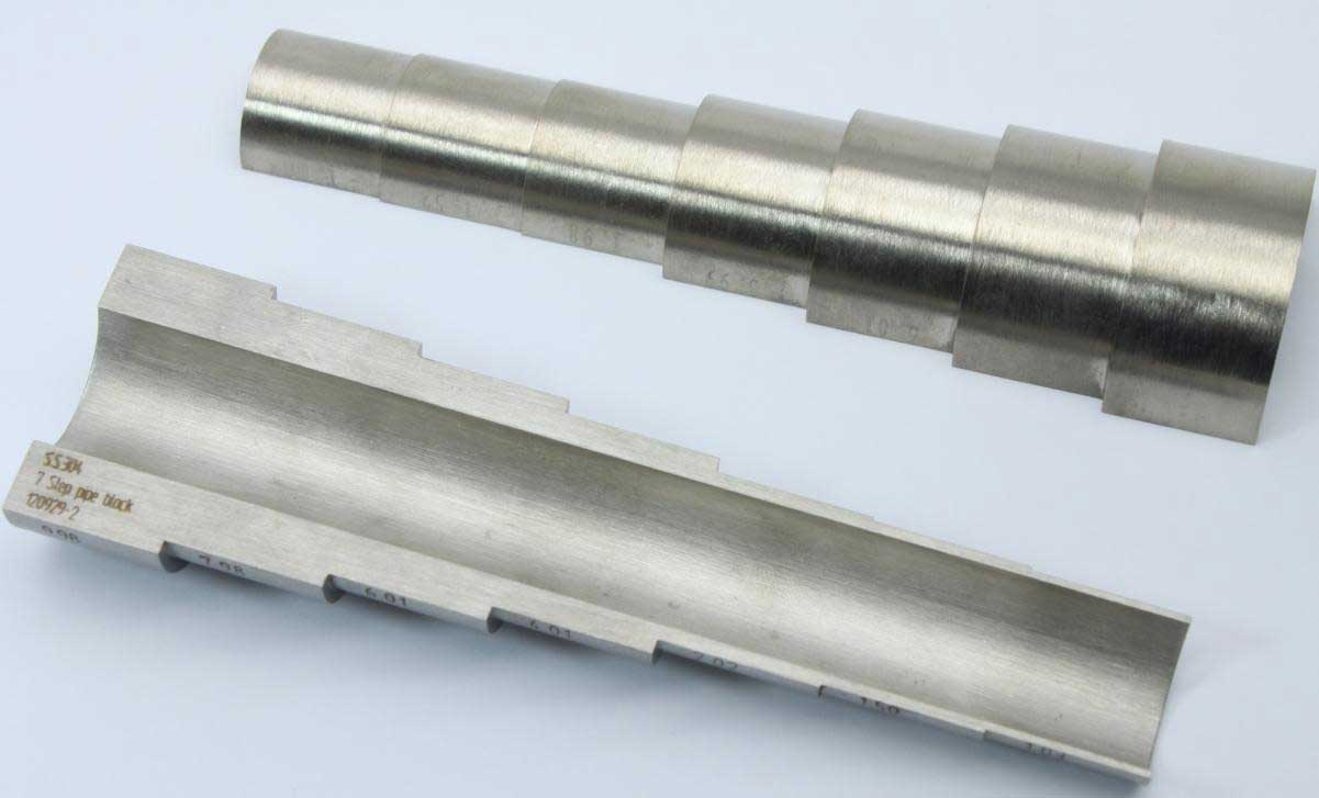 パイプ厚さ測定用階段試験片1.0mm-10.0mm7段