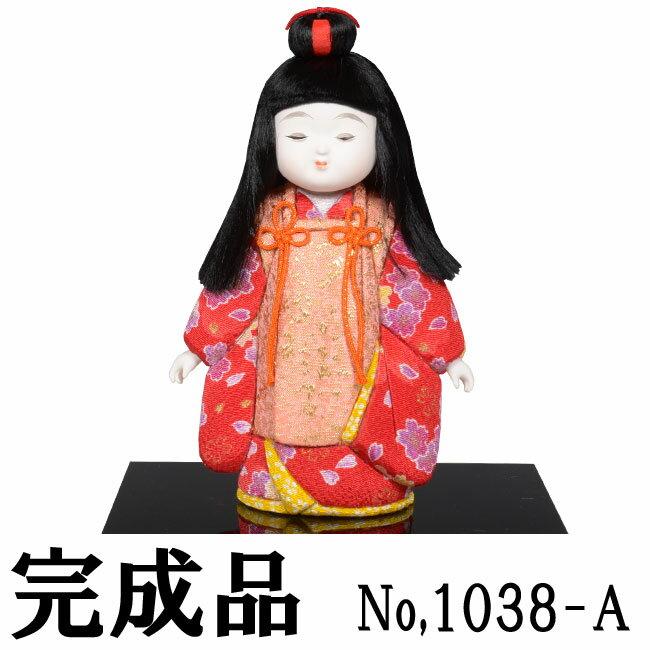 ギフトに最適な木目込み人形 No.1038-A【姿童女(中)】 完成品