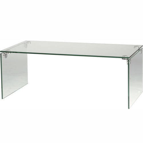 【送料無料】ガラステーブル W100×D50×H38.5cm [東谷] PT-26 テーブル インテリア家具【smtb-tk】