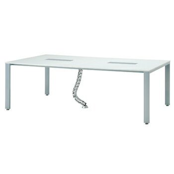【大幅値下げ】ミーティングテーブル スタイリッシュな 会議用テーブル 幅2100×奥行1200×高さ700 GD-U2112 オフィス家具 送料無料 コンセントBOX ケーブルダクト 付き