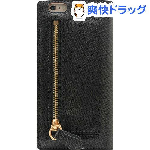 SLG Design iPhone6s PLus�6 PLus サフィアーノジッパー ブラック SD7083i6SP(1コ入)�SLG Design(エスエルジーデザイン)】��料無料】