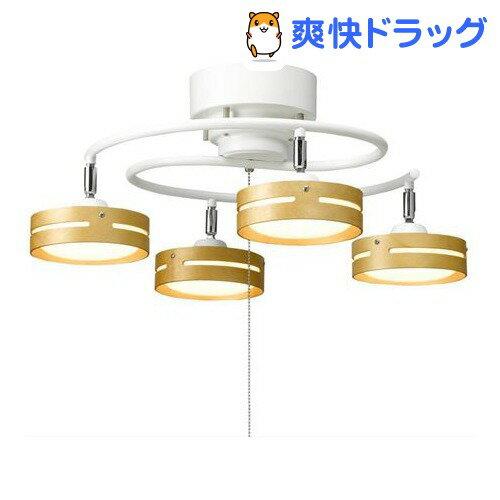 LEDひも式 S字4灯シーリングライト ホワイト Y07CEL40L03WH(1コ入)【送料無料】