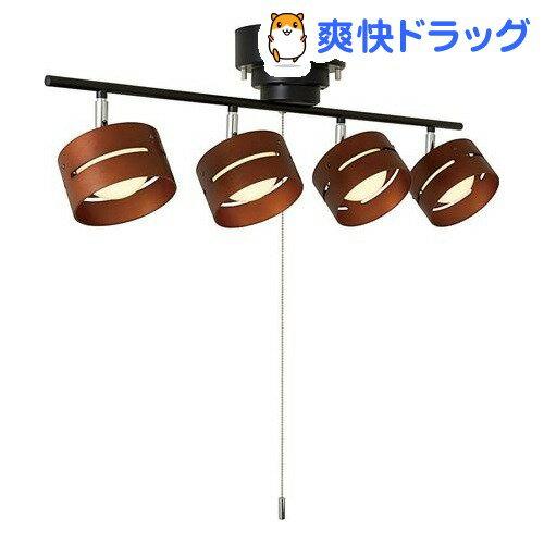 LEDひも式 4灯スポットシーリングライト ブラック Y07CEL40L01BK(1コ入)【送料無料】