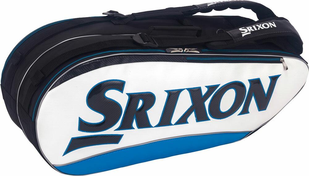 SRIXON(スリクソン)テニスバッグ【男女兼用 テニス用ラケットバッグ】 ラケットバッグ ラケット8本収納可SPC2782ホワイトブル-